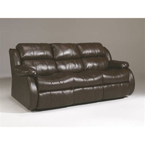 Reclining Sofa With Table Mollifield Leather Reclining Sofa With Drop Table In Cafe 2220089