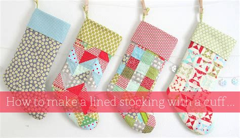 free pattern for lined christmas stocking stocking tutorial cluck cluck sew