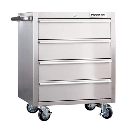 Tool Storage Cabinets Viper Tool Storage V2604ss Stainless Steel 4 Drawer Rollaway Garage Tool Cabinet Atg Stores