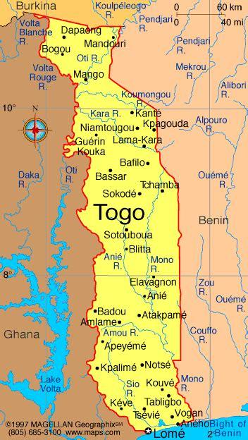 africa map togo le togo