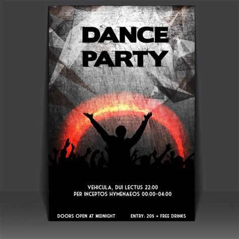 Design Poster Party | grungy party poster design vector free download