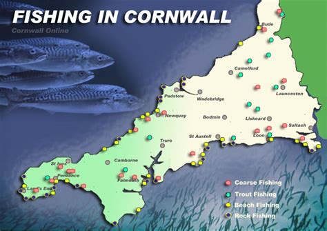 map uk fishing tackle tourist attractions in cornwall