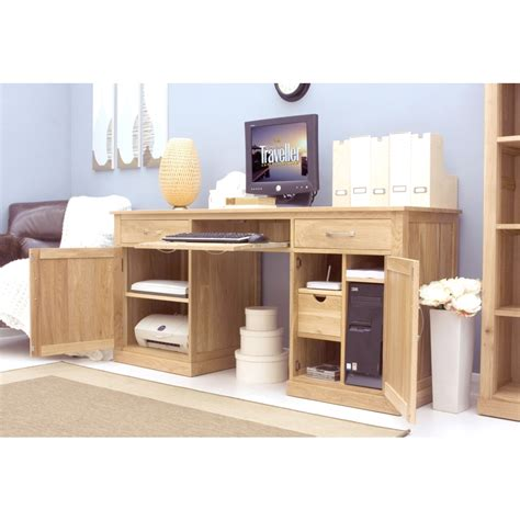 mobel desk large hideaway hidden home computer solid oak