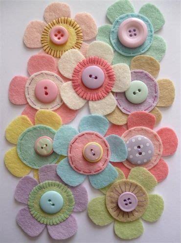 Felt Paper Crafts - paper and string felt flower craft pack pastel