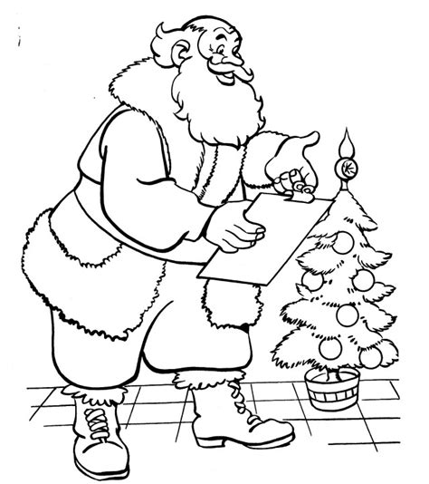 coloring pages of christmas list printable christmas coloring page santa with list