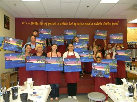 paint with a twist orlando fl daisies for a birthday there picture of