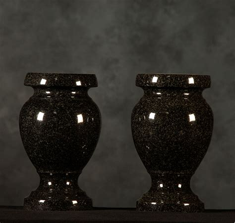 Cemetery Urns And Vases by Black Granite Cemetery Vases Haluch S Memorials