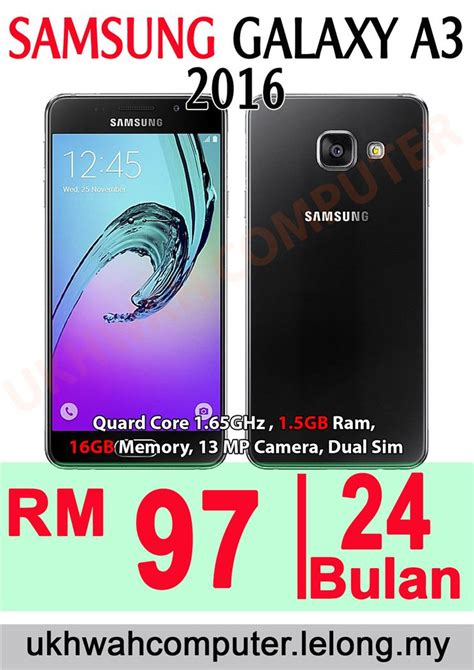 samsung galaxy a3 2016 16gb ori har end 10 31 2016 3 52 pm