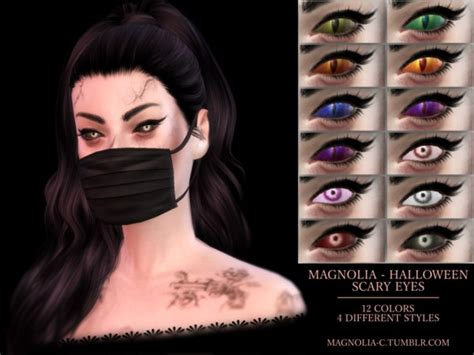 Home Decor With Lights by The Sims Resource Halloween Scary Eyes By Magnolia Cc