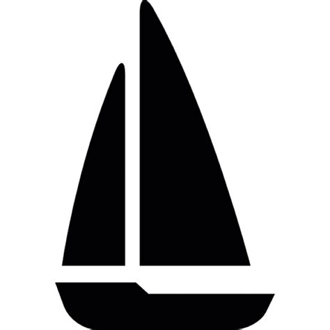 boat icon freepik sailing boat black shape icons free download