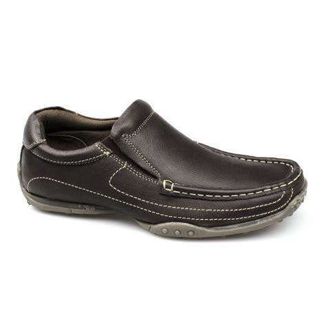 mens soft leather loafers catesby mens soft leather wide slip on casual padded apron
