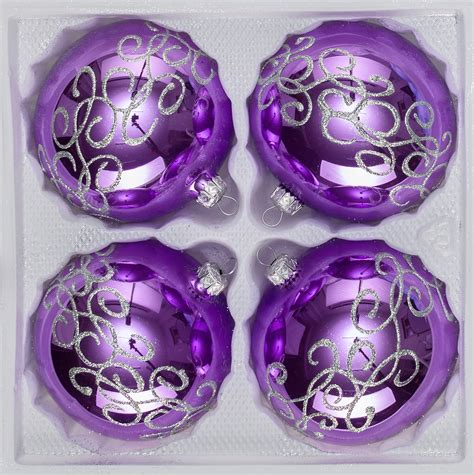 4 pcs glass christmas balls set 3 15 inches 216 in quot high