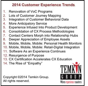 14 customer experience trends for 2014 the year of