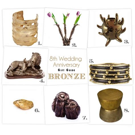 breaking the mold the 8th anniversary gift guide bronze