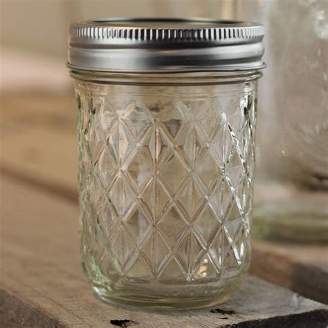 Quilted Jar by Quilted Glass Jar Medium 1pc Wedding Store