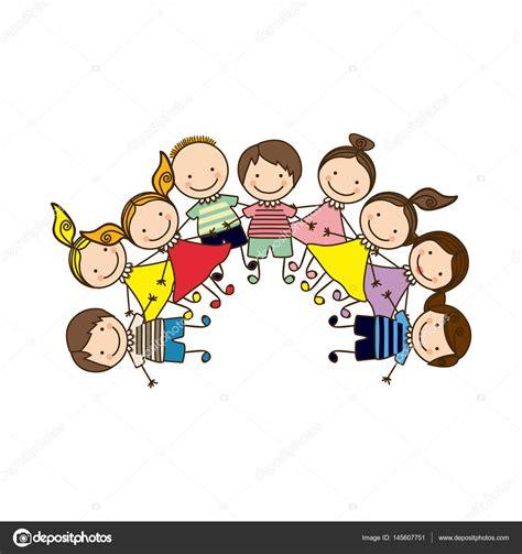 imagenes interessantes para grupo colorido feliz grupo de dibujos animados ni 241 os vector de