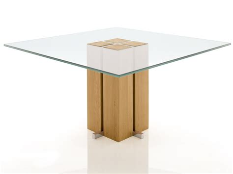 glas esszimmertisch basen s 228 ulen esstisch glas massivholz alria quadrat