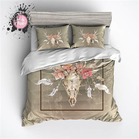 dreamcatcher bedding dreamcatcher floral buck skull bedding ink and rags