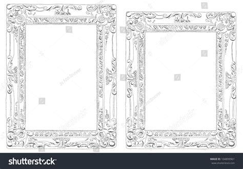 5x7 sketchbook pencil sketch picture frames 4x6 5x7 stock illustration