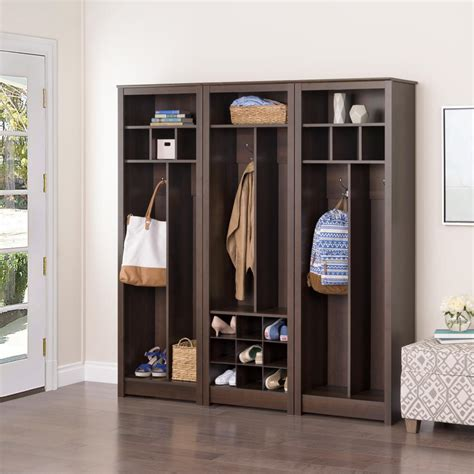 entryway storage 60 inch espresso entryway shelf at gowfb ca prepac