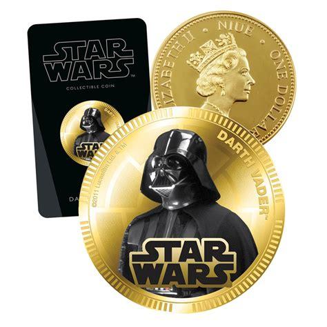Coin Starwars 2011 wars darth vader wars coin gold plated