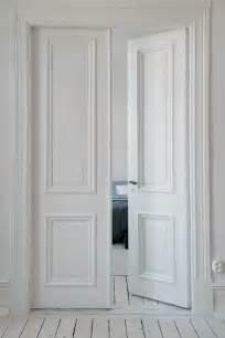 Interior doors in white chic and elegant room decorating ideas