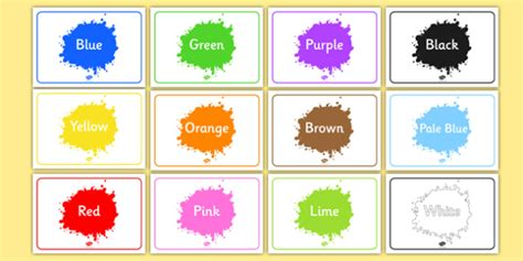 sign for color editable class signs colour colours signs