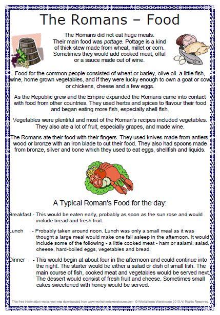 design a menu ks2 roman food worksheet free clil pinterest roman food