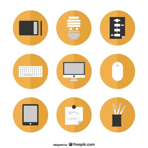 icon design office office icons set vector free download