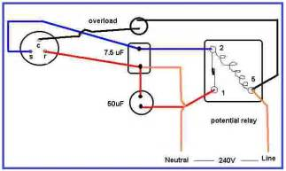 air condition compressor potential relay wiring eee community