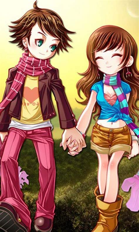 cartoon couple wallpaper hd for mobile animeted cute couple