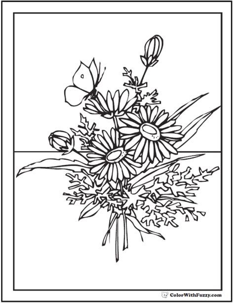 102 flower coloring pages customize and print pdf