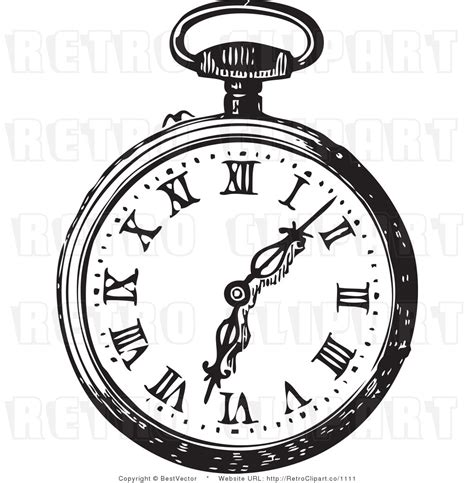 clock clipart white rabbit pencil and in color clock