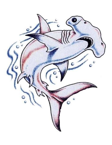 30 awesome hammerhead shark tattoo designs