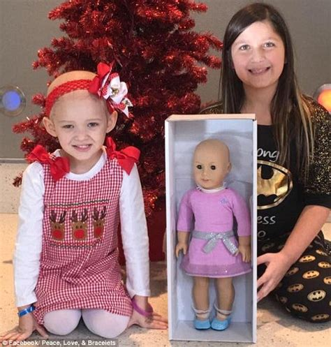 what to buy your 9 year old girl for christmas buys bald american dolls for with cancer daily mail