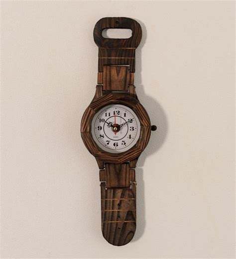 wall watch hand crafted wooden wrist watch wall clock wall decor