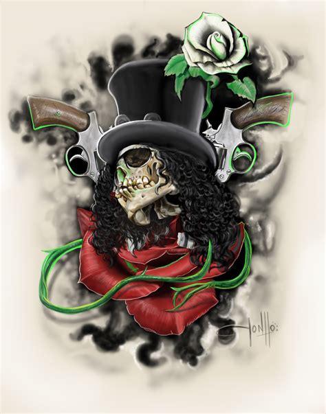 skull n rose tattoo images for gt guns n roses tattoos