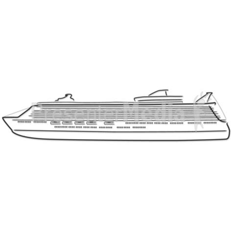 boat shipping line cruise ship outline drawing presentation clipart great