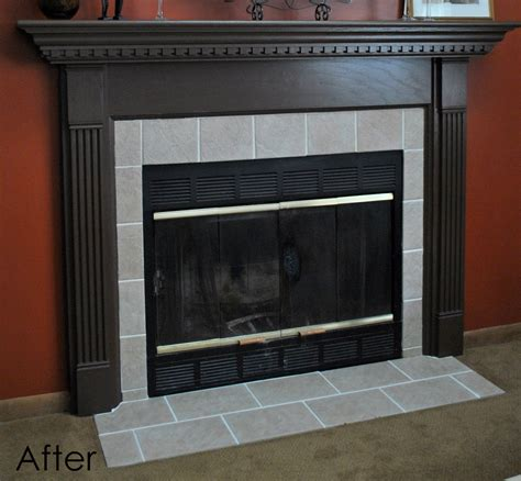 tiled fireplace surround diy fireplace surround transformation burger