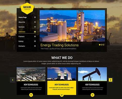 157 Bootstrap Templates Themes Gridgum And Gas Company Website Template