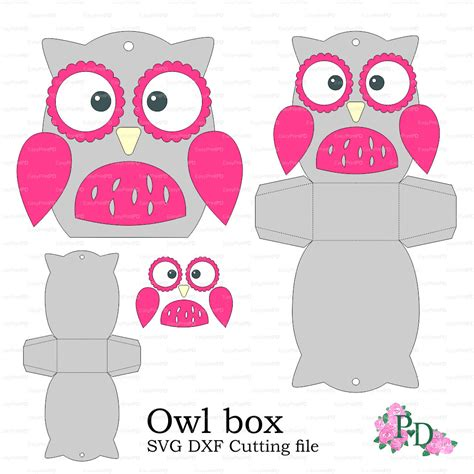 owl templates for baby shower owl paper box template baby shower animals birds от
