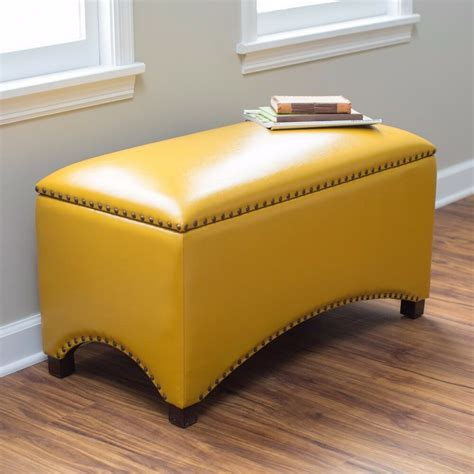 Bedroom Ottoman Bench by Leather Storage Bench Seat Bedroom Ottoman Upholstered