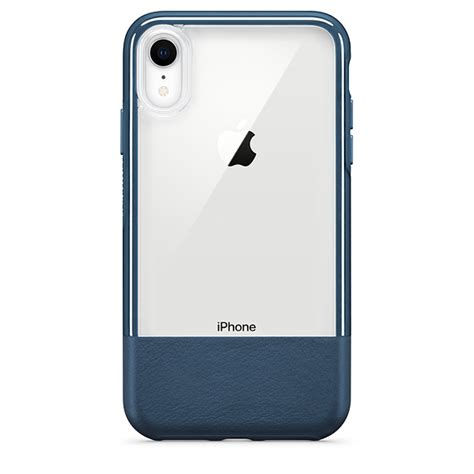 otterbox statement series with leather accent for iphone xr lucent jade apple