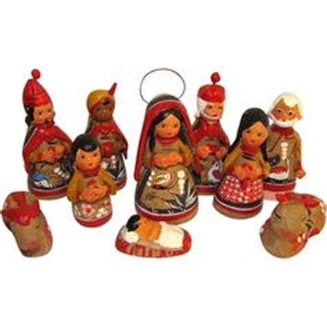shiny brite 12 piece clay nativity set 1000 images about the nativity on nativity sets nativity and nativity