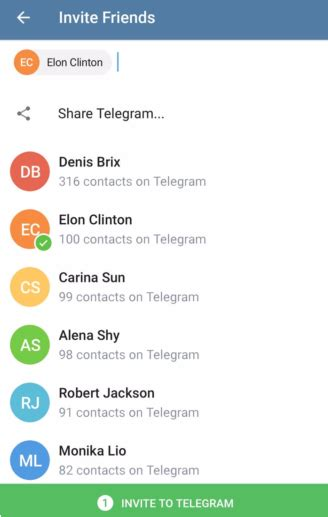 telegram android telegram android update adds new invite system more appinformers