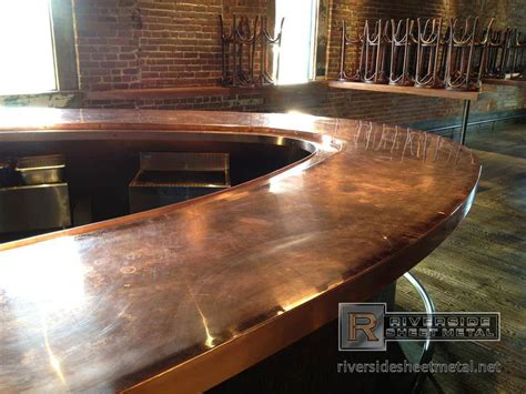 Metal Bar Tops by Radius Copper Bar Top In Construction