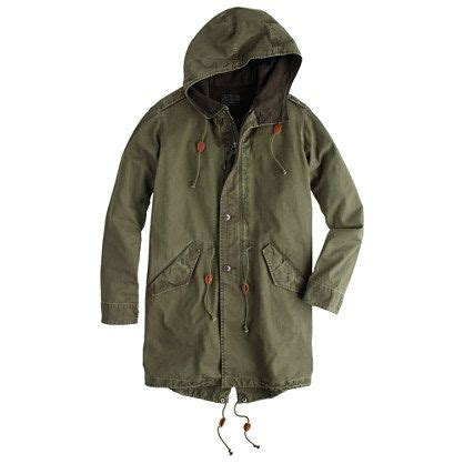Mds Raincoat Light cotton fishtail parka mds store new s