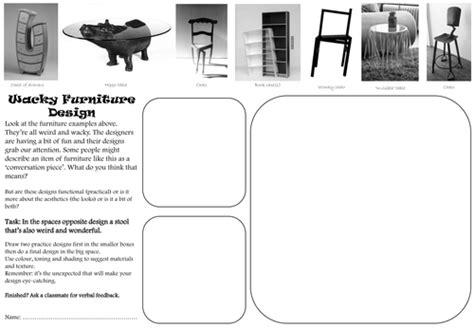 design cover lesson design technology cover lesson or homework worksheets ks3