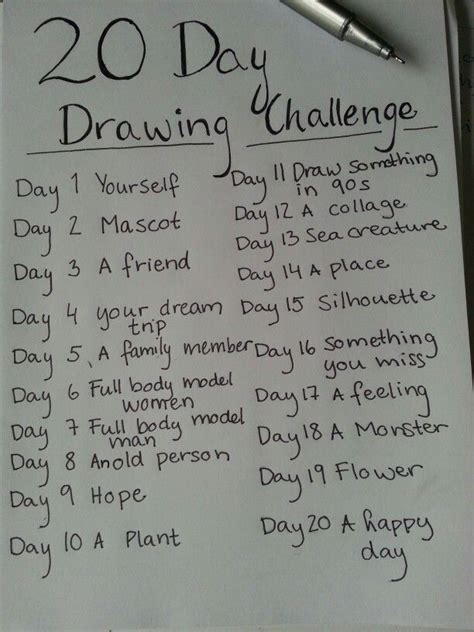 Drawing 6 Hours A Day by Drawing A Day Challenge Search Sketchbook Ideas