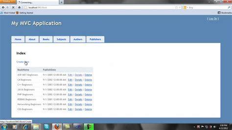 tutorial asp net mvc 5 asp net mvc 3 tutorial part 1 viyoutube